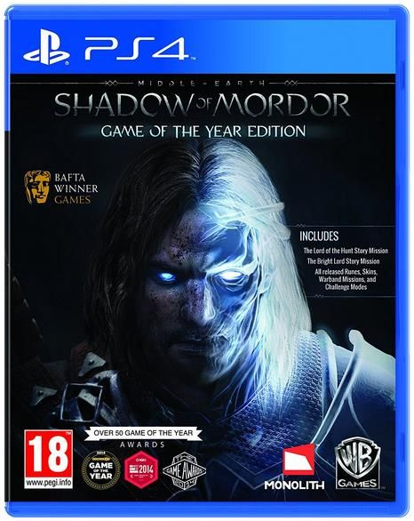 middle earth shadow of mordor goty (ps4)