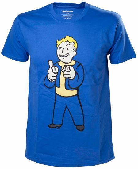 Tricou Fallout 4 Vault Boy Shooting Fingers, marime L (Albastru)
