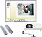 "Pachet Interactiv IQboard Business Corporate InFocus 94"" (Tabla interactiva IQBoard Premium 94"" + adaptor wireless USB Data + videoproiector Ultra Short Throw (UST) Optoma W330UST + suport perete profesional +  Sistem Audio AMP-32-20W)"