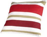 Perna decorativa Heinner HR-PLW40-RED01, 40 x 40 cm, Bumbac, model Dungi Rosii (Alb/Rosu)