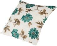 Perna decorativa Heinner HR-PLW40-FLWB, 40 x 40 cm, Bumbac, model Flori Albastre (Multicolora)