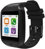 Fotografie Smartwatch MyKronoz ZeTel,  Transflective Capacitive touchscreen, Bluetooth, Bratara silicon, 2G (Negru)