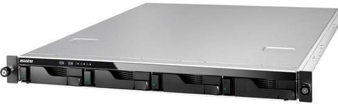 NAS Asustor AS-204RS, 4 Bay-uri, Gigabit, Dual Core, 1200 MHz, 1 GB DDR3 (Negru)