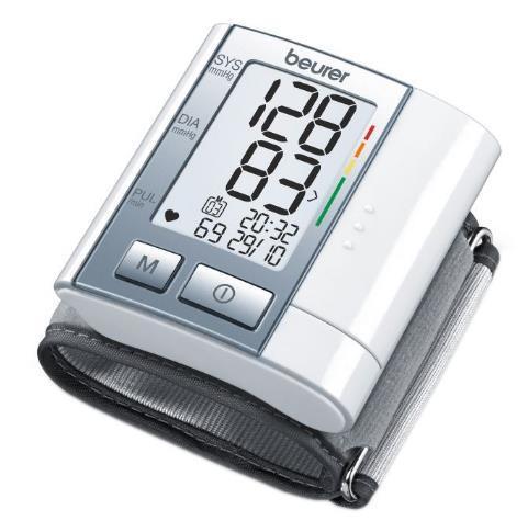 Tensiometru electronic de incheietura Beurer BC40, Detecteaza aritmia (Alb)