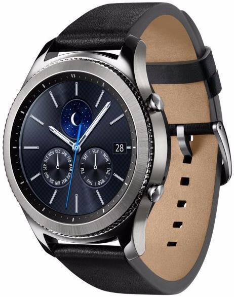 Smartwatch Samsung Gear S3 Classic SM-R770, Procesor Dual-Core 1GHz, Super AMOLED 1.3inch, 768MB RAM, 4GB Flash, Bluetooth, Wi-Fi, Rezistent la apa si praf, Tizen (Argintiu)( 50302)
