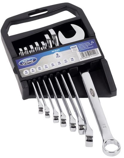 Set chei fixe si inelare Ford Tools FHT-EI-076, 8 piese