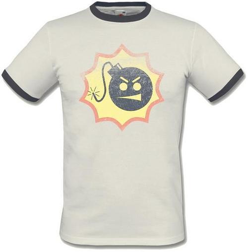 Tricou Serious Sam Vintage Logo Ringer, marime XL (Alb)