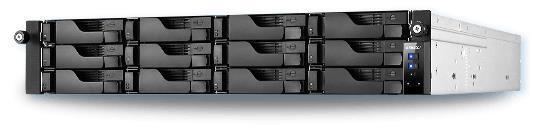 NAS Asustor AS6212RD, 12 Bay-uri, Gigabit, Quad Core, 1630 - 2240 MHz, 4 GB DDR3L (Negru)