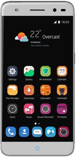 Telefon Mobil ZTE Blade V7 Lite, Procesor Quad-Core 1.0GHz, IPS LCD capacitive touchscreen 5inch, 1GB RAM, 8GB Flash, 13MP, Wi-Fi, 4G, Dual Sim, Android (Gri/Argintiu)