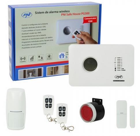 Sistem de alarma PNI SafeHouse PG300, Wireless, comunicator GSM 2G
