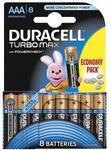 Baterie Duracell Turbo Max AAA LR03, 8buc