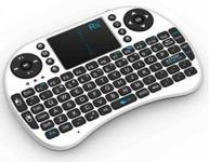 Tastatura mini RII RTMWK08W, wireless, touchpad, pentru XBox, PS, PC, Notebook (Alb)