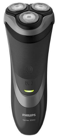 Aparat de ras Philips Series 3000 S3510/06, 3 discuri, ComfortCut, LED (Negru)