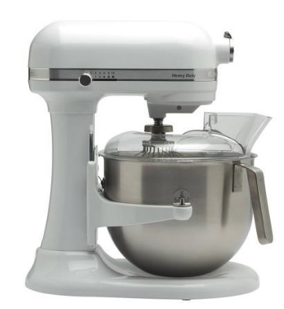 Mixer cu bol KitchenAid Heavy Duty, 6.9l, 500W (Alb)