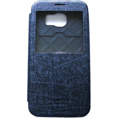 Husa S-View Arium Bumper Flip View 990394-SGS6-BK pentru Samsung Galaxy S6 (Negru)