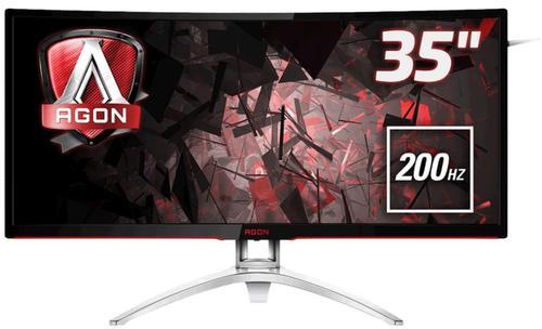 Monitor Gaming MVA LED AOC AGON 35inch AG352QCX, Ultra Wide (2560x1080), VGA, HDMI, DisplayPort, Ecran curbat, Boxe, 200 Hz, 4 ms (Negru/Argintiu)