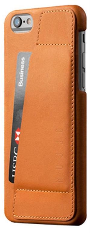 Husa Protectie Spate Mujjo 80 Wallet MUJJO-SL-083-TN pentru Apple iPhone 6S (Maro)