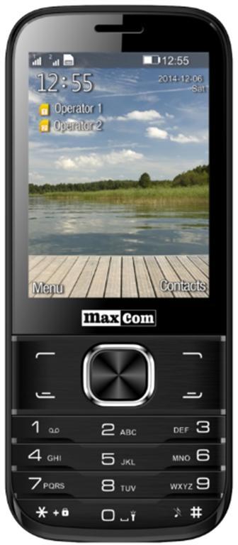 Telefon Mobil MaxCom MM237, TFT 2.8inch, Dual Sim, 2G (Negru)