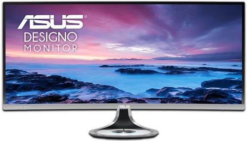 Monitor VA LED ASUS 34inch MX34VQ, 3440 x 1440, HDMI, DisplayPort, Ecran Curbat, Boxe, 4 ms (Argintiu)