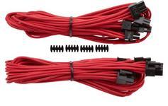 Cablu PCIe Premium Generatia 3 Dual conectors (Rosu)