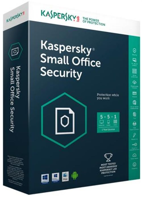 Kaspersky Small Office Security 5 European Edition pentru 1 File Server, 6 Device-uri Mobile, 6 PC, 1 an, Licenta Electronica