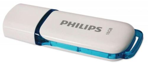 stick usb philips snow edition, 16gb, usb 2.0 (alb/albastru)