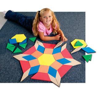 Joc pentru clasa Learning Resources Set forme mari de construit modele