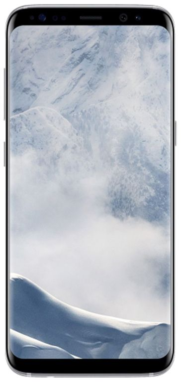 telefon mobil samsung galaxy s8, procesor octa-core 2.3ghz / 1.7ghz, super amoled capacitive touchscreen 5.8inch, 4gb ram, 64gb flash, 12mp, 4g, wi-fi, android (arctic silver)