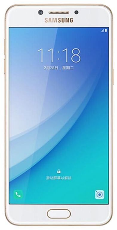 Telefon Mobil Samsung Galaxy C5 Pro C5010, Procesor Octa-Core 2.2GHz, Super Amoled Capacitive touchscreen 5.2inch, 4GB RAM, 64GB Flash, 16MP, Wi-Fi, 4G, Dual Sim, Android (Auriu)
