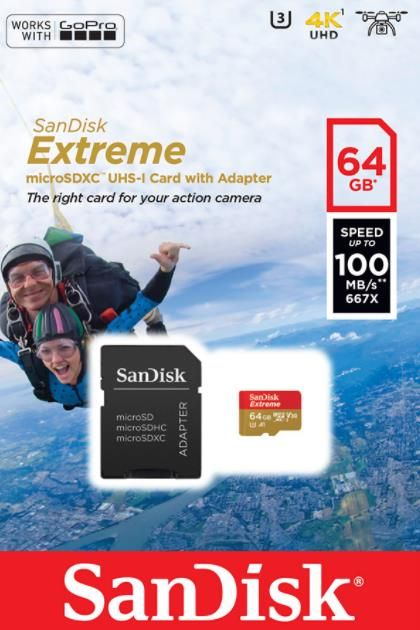 Card de memorie SanDisk Extreme, 64GB, pana la 667 MB/s imagine 2021