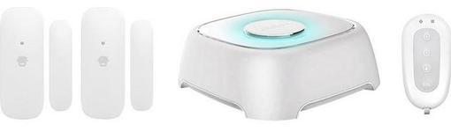 Kit sistem de alarma wireless Smanos W020, WiFi, 2 senzori fereastra, 1 telecomanda (Alb)