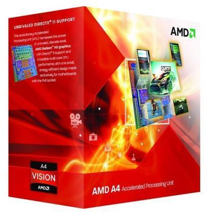 Imagine indisponibila pentru Procesor AMD A4 X2 4020, FM2, 3.4 GHz, 1MB, 65W (BOX)