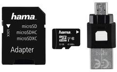 Card de memorie Hama 123939, microSDHC, 32GB, Clasa 10 + Adaptor SD