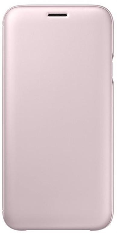 Husa Book cover Samsung EF-WJ730CPEGWW pentru Samsung Galaxy J7 2017 (Roz)