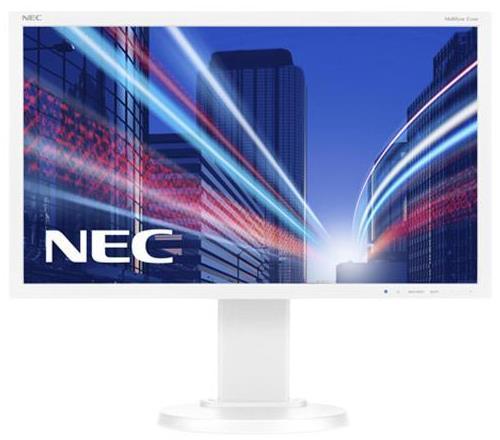 Monitor IPS LED Nec 21.5inch E224Wi, Full HD (1920 x 1080), VGA, DVI, DisplayPort, Pivot, 6 ms (Alb)