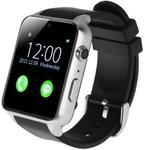 "Smartwatch iUni GT88, 1.54"", Bratara silicon (Negru/Argintiu)"
