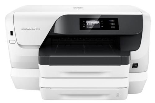 Imprimanta jet cerneala HP Officejet Pro 8218, A4, 20 ppm, Duplex, Retea, Wireless (Alba)