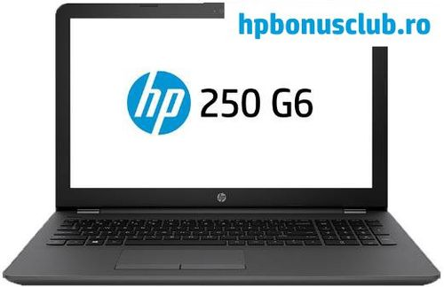 laptop hp 250 g6 (procesor intel® core™ i3-6006u (3m cache, up to 2.00 ghz), kaby lake, 15.6inch fhd, 8gb, 256gb ssd, intel® hd graphics 520, wireless ac, argintiu-cenusiu)