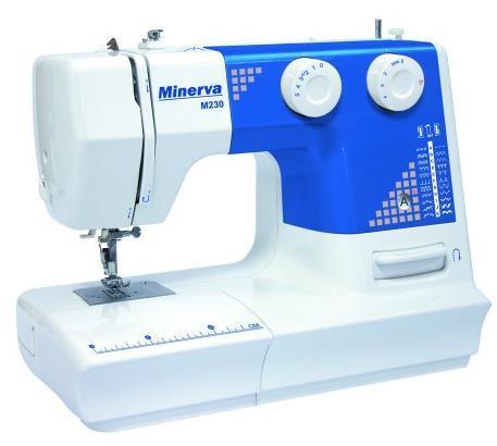 Masina de cusut Minerva M230, 23 programe (Alb/Albastru)