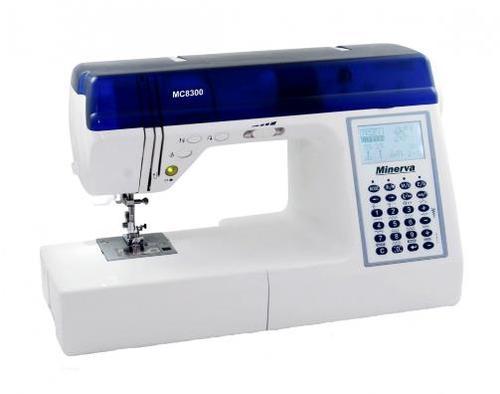 Masina de cusut Minerva MC8300, 536 programe (Alb/Albastru)