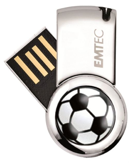 Stick USB Emtec Football EKMMD8GS370, 8 GB, USB 2.0 (Multicolor)