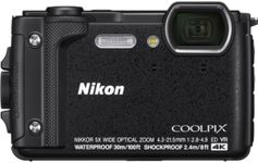 "Aparat Foto Digital Nikon COOLPIX W300, 16 MP, 1/2.3"" CMOS, 5x Zoom optic, Filmare 4K, Waterproof, Shockproof, GPS, Bluetooth, WiFi (Negru)"