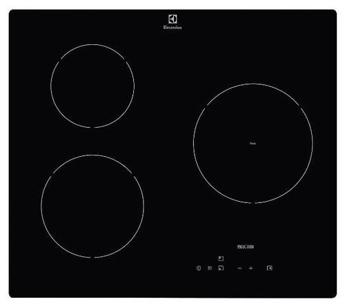 Plita incorporabila Electrolux E 6203 IOK, 3 zone inductie, 60 cm, Touch control (Negru)