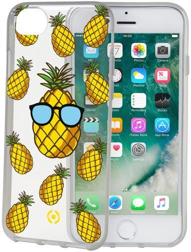 Protectie spate Celly Pineapple COVER800TEEN01 pentru iPhone 7/8 (Transparent)