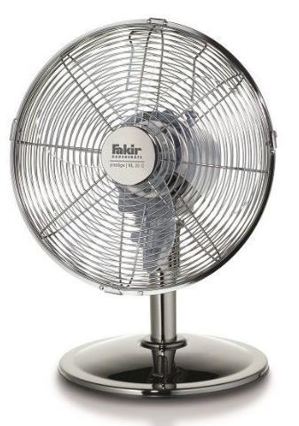 Ventilator de birou Fakir Prestige VL 30 G, 45 W, 3 trepte de viteza, 1600 m3/h, Functie oscilare (Argintiu)