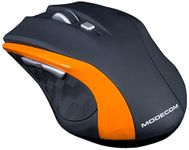 Mouse Wireless Modecom MC-WM5, 1600 DPI, USB (Negru/Portocaliu)