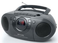 Micro Sistem Audio Portabil Muse M-19 RDC MSE00063, CD-Player, Player Casete audio si Recorder, Radio, AUX-in (Negru)