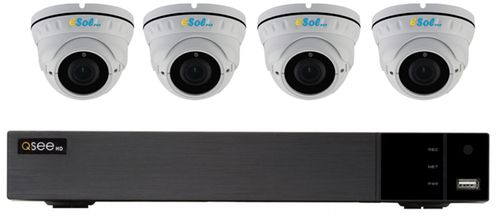 Kit Supraveghere Video e-Sol QTH43-4D2, 1080P, 4 camere video, 4 canale