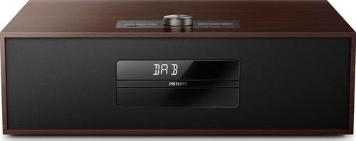 Micro Sistem Audio Philips BTB4800/12, Bluetooth, CD/MP3 Player, Radio FM (Negru/Maro)