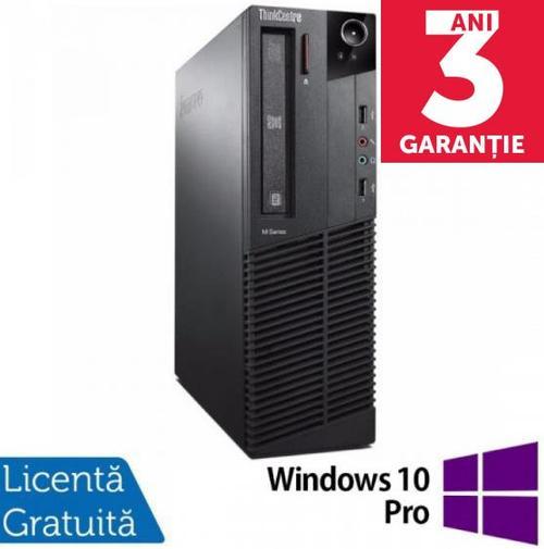 Sistem PC Refurbished LENOVO Thinkcentre M92P SFF (Procesor Intel® Core™ i5-3470 (6M Cache, up to 3.60 GHz), Ivy Bridge, 4GB, 500GB HDD, Intel® HD Graphics, Win10 Pro)
